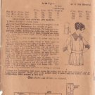 PEERLESS 1900'S UNPRINTED PATTERN 8779 MISSES' DRESSING SACQUE SIZE 38