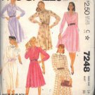 McCall's PTRN 7248 dated 1980 Misses' one piece dress, SIX VERSIONS size14 UNCUT