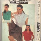 McCALL'S PATTERN 8069 DATED 1982 MISSES' BLOUSES IN 3 STYLES SIZE 10