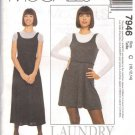 McCALL'S PATTERN 7946 MISSES' JUMPER IN TWO LENGTHS AND TOP SIZES 10-12-14