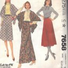 McCall's pattern 7658, dated 1981, for a Misses' SKIRT AND SHAWL SIZES 10-12-14