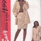 McCall's pattern 7210,dated 1994, Misses' Jacket,Top,Skirt,Sash Sz 10/12/14/16