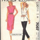 McCall's pattern 7057, dated 1980, for a Misses' dress or top, pants in size 10