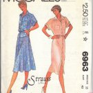 McCALL'S PATTERN  6963 DATED 1980 MISSES DRESS, TOP, SKIRT & BELT SZ 18 UNCUT