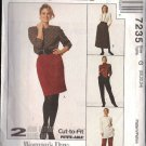 McCALL'S 7235 DATED 1994 MISSES' PULL-ON SKIRTAND PANTS SZ 20/22/24 UNCUT