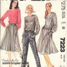 McCALL'S 7223 DATED 1980 MISSES' TOP, SKIRT, PANTS SZ 14 UNCUT