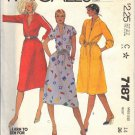 McCALL'S 7187 DATED 1980 MISSES' DRESS 3 VERSIONS STRETCH KNITS ONLY SIZE 14