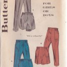 "BUTTERICK PATTERN 9251 CHILD'S PANTS AND SHORTS SIZE 6 WAIST 22"" UNUSED"