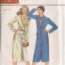 BUTTERICK PATTERN 6986 MISSES' JACKET AND SKIRT SIZES 12-14-16 UNCUT