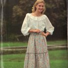 BUTTERICK PATTERN 5951 MISSES' PEASANT BLOUSE AND SKIRT SZ SMALL 8-10