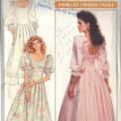 BUTTERICK PATTERN 5895 DATED 1987, MISSES' BRIDAL DRESS SIZE 12