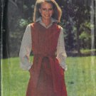 BUTTERICK PATTERN 5843 MISSES' JUMPER SIZE 10