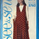BUTTERICK PATTERN 5762 MISSES' JUMPER AND TOP SIZES 12-14-16 UNCUT
