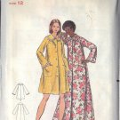 BUTTERICK PATTERN 5743, MISSES' ROBE IN TWO LENGTHS SIZE 12