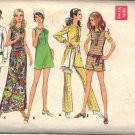 BUTTERICK PATTERN 5707 JR PETITE MINI OR MAXI DRESS, PANTDRESS, PANTS SIZE 7JP