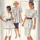 BUTTERICK PATTERN 5623 MISSES' TOP AND SKIRT SIZES 8-10-12 UNCUT