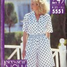 BUTTERICK PATTERN 5551 MISSES' SHIRT AND SHORTS SIZES XS-SM, MD, LG, XL