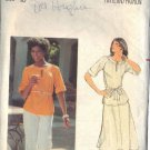 BUTTERICK PATTERN 5478 MISSES' TOP, SKIRT, PANTS AND BELT SZ 10