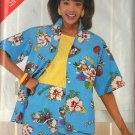 BUTTERICK PATTERN 5476 MISSES' SHIRT AND SHORTS SIZES 14 AND 16