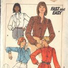 BUTTERICK PATTERN 5115 MISSES BLOUSE IN 3 VARIATIONS SZ 10
