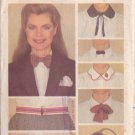 BUTTERICK PATTERN 3378 MISSES' BOW TIES, BELTS, COLLARS, HANKERCHIEFS, PURSE
