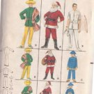 BUTTERICK PATTERN 3352 CHILD'S COSTUMES SANTA,DOCTOR, CHINAMAN, MEXICAN SIZE 6/8