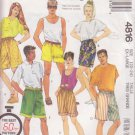 McCALL'S PATTERN 4816 UNISEX SHORTS IN 2 LENGTHS SIZE XL 22-24