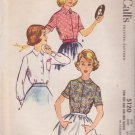 McCALL'S VINTAGE PATTERN 5120 GIRLS' BLOUSES IN 3 VARIATIONS SIZE 12S