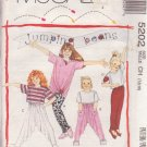 McCALL'S PATTERN 5202 GIRLS' TOP IN 3 LENGTHS, PANTS, LEGGINGS SIZES 7/8/10