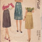 McCALL'S VINTAGE PATTERN 5209 MISSES' PLEATED SKIRT SIZE 24 WAIST