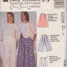 McCALL'S PATTERN 5256 MISSES' SKIRT, SPLIT SKIRT, PANTS SIZE 14