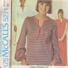 McCALL'S PATTERN 5271 MISSES' DRESS IN 2 LENGTHS OR TOP SIZE MEDIUM 14/16