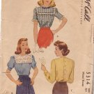 McCALL'S VINTAGE PATTERN 5314 MISSES' BLOUSES IN 3 VARIATIONS SIZE 16