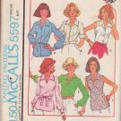 McCALL'S PATTERN 5597 MISSES' SET OF BLOUSES IN 6 VARIATIONS SIZE 16