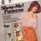 McCALL'S PATTERN 5990 MISSES' TOPS IN 4 VARIAITONS SIZES 10/12
