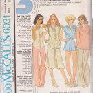 McCALL'S PATTERN 6031 MISSES' BLOUSE, VEST, SKIRT, PANTS, SHORTS SIZES 10/12/14