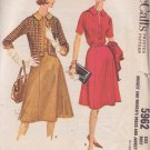 McCALL'S VINTAGE PATTERN 5962 MISSES' 1961 DRESS AND JACKET SIZE 16