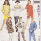 McCALL'S PATTERN 6322 MISSES' TOPS, PANT IN 2 LENGTHS, SHORTS SIZES S/M/L