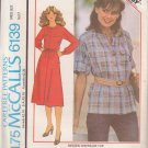 McCALL'S PATTERN 6139 MISSES' DRESS OR TOP SIZE 8 UNCUT
