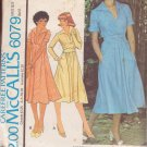 McCALL'S PATTERN 6079 MISSES' DRESS IN 2 VARIATIONS SIZE 8 UNCUT
