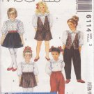 McCALL'S PATTERN 6114 CHILDS' LINED VEST, BLOUSE, CULOTTES, PANTS SIZE 3 UNCUT