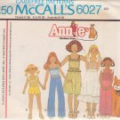 McCALL'S PATTERN 6027 CHILDS' TOP, SKIRT, PANTS, SHORTS SIZE SM 6/8 UNCUT