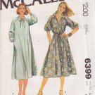 McCALL'S PATTERN 6399 MISSES' DRESS IN 2 VARIATIONS SIZE 14 1/2 UNCUT