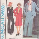 McCALL'S PATTERN 5858 MISSES' JACKET, SKIRT AND PANTS SIZE 14