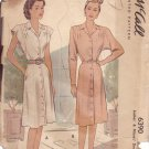 McCALL'S VINTAGE PATTERN 6390 MISSES' DRESS IN 2 VARIATIONS SIZE 14