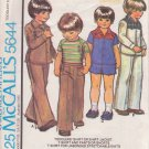 McCALL'S VINTAGE PATTERN 6407 TODDLER'S SHIRT, SHIRT-JACKET, T-SHIRT, PANTS, SHORTS  SZ 4
