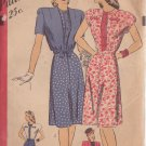 HOLLYWOOD PATTERN 1587 MISSES DRESS, JACKET IN 2 VARIATIONS 1940'S SIZE 12