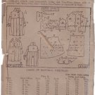 LADIES HOME JOURNAL VINTAGE PATTERN 2505 CHILD'S COAT 1905 SIZE 2 UNPRINTED