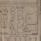 LADIES HOME JOURNAL PATTERB 2542, GIRLS' OR MISSES' 1905 PAJAMAS SZ 16 UNPRINTED