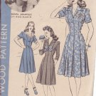HOLLYWOOD VINTAGE PATTERN 1127, 1940'S 1 PC DRESS SIZE 12 BONITA GRANVILLE